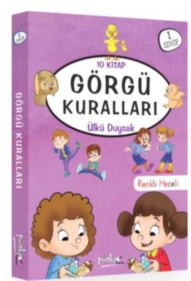 1. Sınıf Görgü Kuralları Seti 10 Kitap Takım