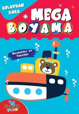 Mega Boyama - Meslekler ve Taşıtlar - Kolaydan Zora