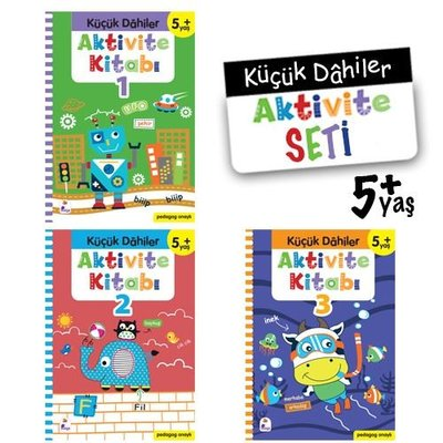 Küçük Dahiler Aktivite Seti 5+ Yaş - 3 Kitap Takım