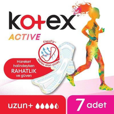 Kotex Active Single Uzun (7X24)