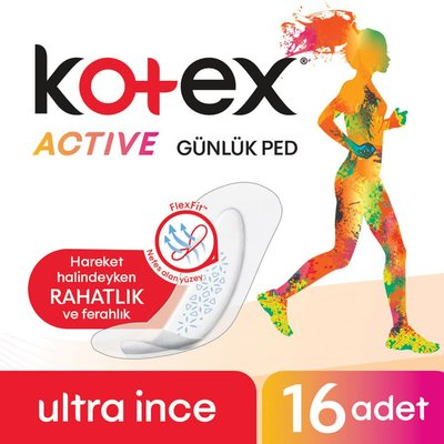 Kotex Actıve Günlük Ped 16'Lı (16X16)