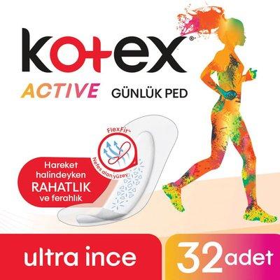 Kotex Active Günlük Ped 32Li (32X16