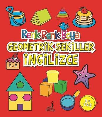 Boyama Kitabı Geometrik Şekiller İngilizce Renk Renk Boya