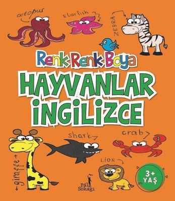 Boyama Kitabı Hayvanlar İngilizce Renk Renk Boya