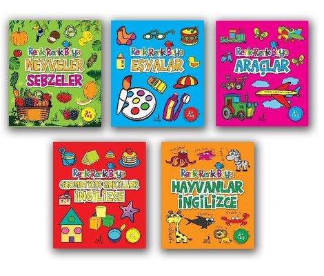 Boyama Kitabı Renk Renk Boyama Seti - 5 Kitap Takım
