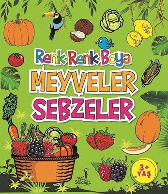 Boyama Kitabı Meyveler Sebzeler Renk Renk Boya