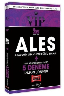2021 ALES VIP Yeni Sınav Sistemine Göre Tamamı Çözümlü 5 Deneme