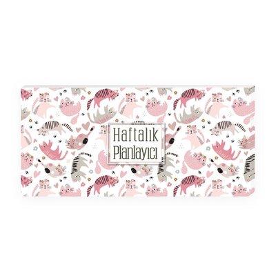 Keskin Color 12x26 Haftalık Planner Blok - Pink Kitty