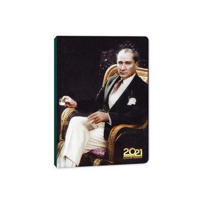 Keskin Color 14x20 Atatürk Günlük Ciltli Ajanda - Türk Kahvesi