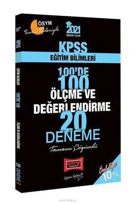 2021 KPSS Eğitim Bilimleri 100'de 100 Ölçme ve Değerlendirme Tamamı Çözümlü 20 Deneme