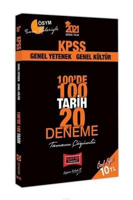 2021 KPSS Tarih 100'de 100 Tamamı Çözümlü 20 Deneme