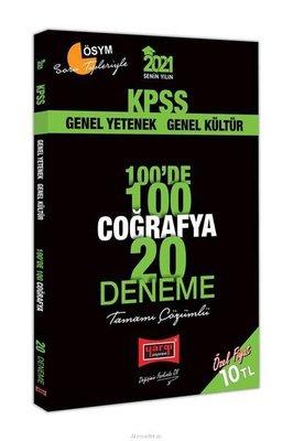 2021 KPSS Coğrafya 100'de 100 Tamamı Çözümlü 20 Deneme