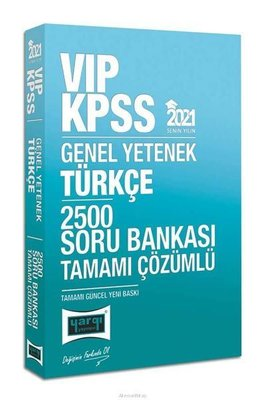 2021 KPSS VIP Türkçe Tamamı Çözümlü 2500 Soru Bankası