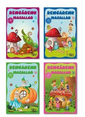 Rengarenk Masallar Seti 1 - 4 Kitap Takım