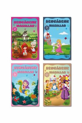 Rengarenk Masallar Seti 4 - 4 Kitap Takım