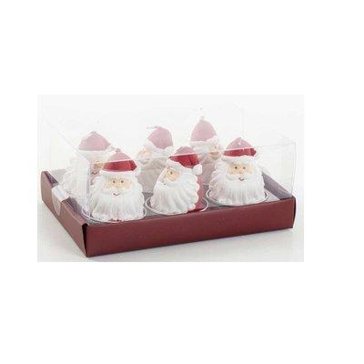 Euroflora Mum Tealight Noel Baba 6'Lı Paket