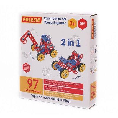 Polesie - Yapım Oyuncağı Araç 2in1 97 Parça 72979