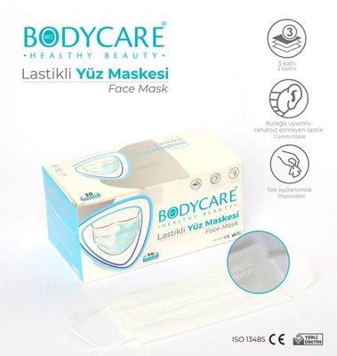 Bodycare 3 Katlı Yüz Maskesi 30'lu Paket