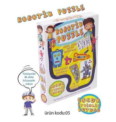 Yakaçi Eğitici Oyun Robotik Puzzle