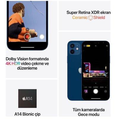 Apple iPhone 12 mini 64 GB Siyah Cep Telefonu MGDX3TU/A