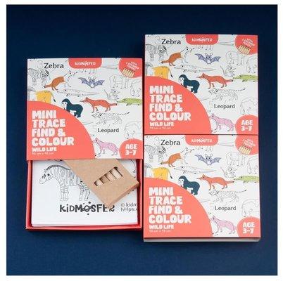 Kidmosfer Orman Hayvanları Noktaları Birleştir - Bul-Boya Poster