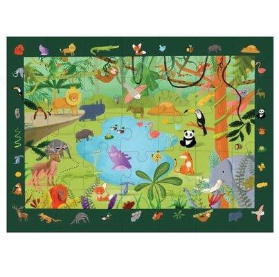 Kidmosfer Orman Hayvanları 35 Parça Puzzle