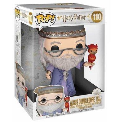 "Funko POP Deluxe Figür - Harry Potter, 10"" Dumbledore ile Fawkes"