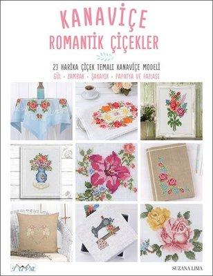 Kanaviçe Romantik Çiçekler