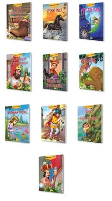1. Sınıflar İçin Dünya Çocuk Edebiyatı Seti - 10 Kitap Takım