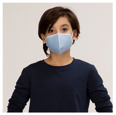 Silver Pro Maske 5-7 Yaş Çocuk - Mavi