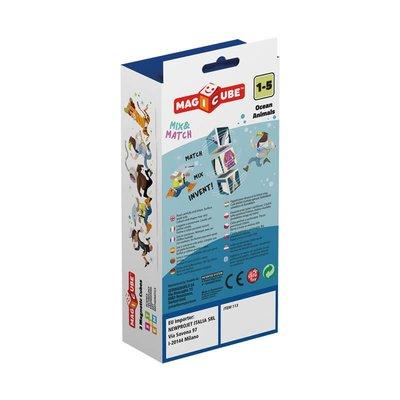 Geomag Magicube 113 Mix & Match Okyanus Hayvan Eğitici Oyun