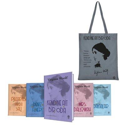 Gri Bez Çanta Hediyeli - Virginia Woolf Seti - 5 Kitap Takım