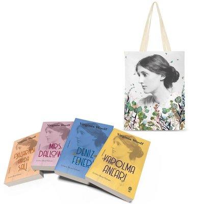 Çiçekli Bez Çanta Hediyeli - Virginia Woolf Seti - 4 Kitap Takım