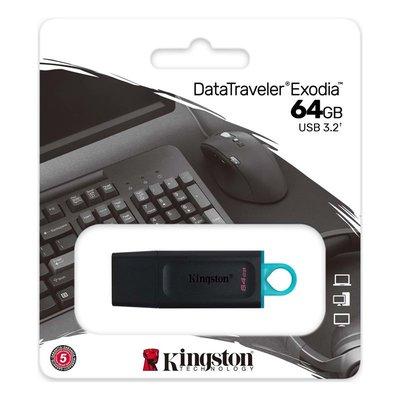 Kingston 64 Gb Usb 3.2 Gen 1 DataTraveler Exodia Black + Teal