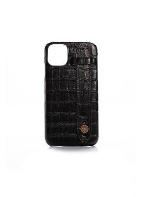OrganiCraft iPhone 11 Pro Siyah Deri Croco T Kılıf