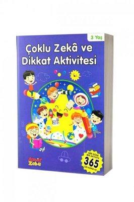 Çoklu Zeka ve Dikkat Aktivitesi 3 Yaş - Mavi Kitap