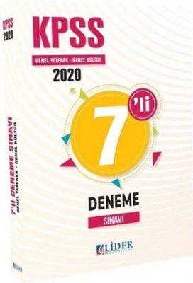 2021 KPSS Genel Yetenek Genel Kültür 7'li Deneme