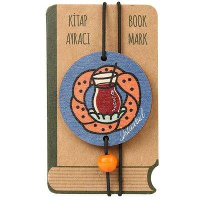 Pan Elastik Kitap Ayracı Çay Simit