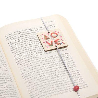 Pan Elastik Kitap Ayracı Love5