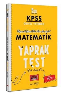 2022 KPSS Lisans Genel Yetenek Genel Kültür Matematik Yaprak Test