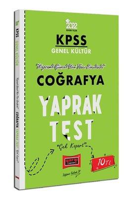 2022 KPSS Lisans Genel Kültür Coğrafya Yaprak Test