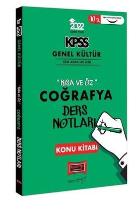 2022 KPSS Genel Kültür Kısa ve Öz Coğrafya Ders Notları Konu Kitabı