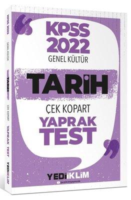 2022 KPSS Lisans Genel Kültür Tarih Çek Kopart Yaprak Test