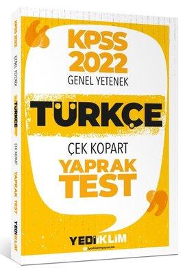2022 KPSS Lisans Genel Yetenek Türkçe Çek Kopart Yaprak Test