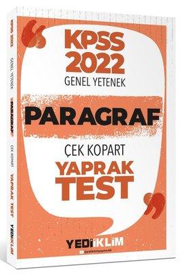 2022 KPSS Paragraf Çek Kopart Yaprak Test