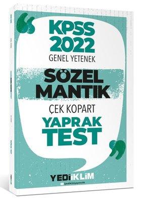 2022 KPSS Sözel Mantık Çek Kopart Yaprak Test