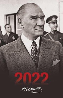 Halk 2022 Sivil Siyah Atatürk Ajandası