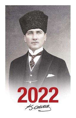 Halk 2022 Kalpaklı Çerçeveli Atatürk Ajandası