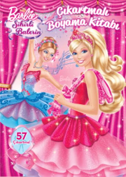 Barbie Sihirli Balerin çıkartmalı Boyama Kitabı Dr Kültür