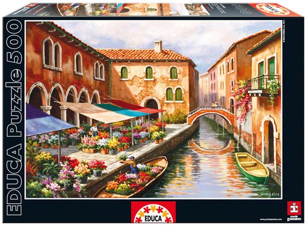 Educa Puzzle Kanalda Çiçek Pazari 500`Lük 15791